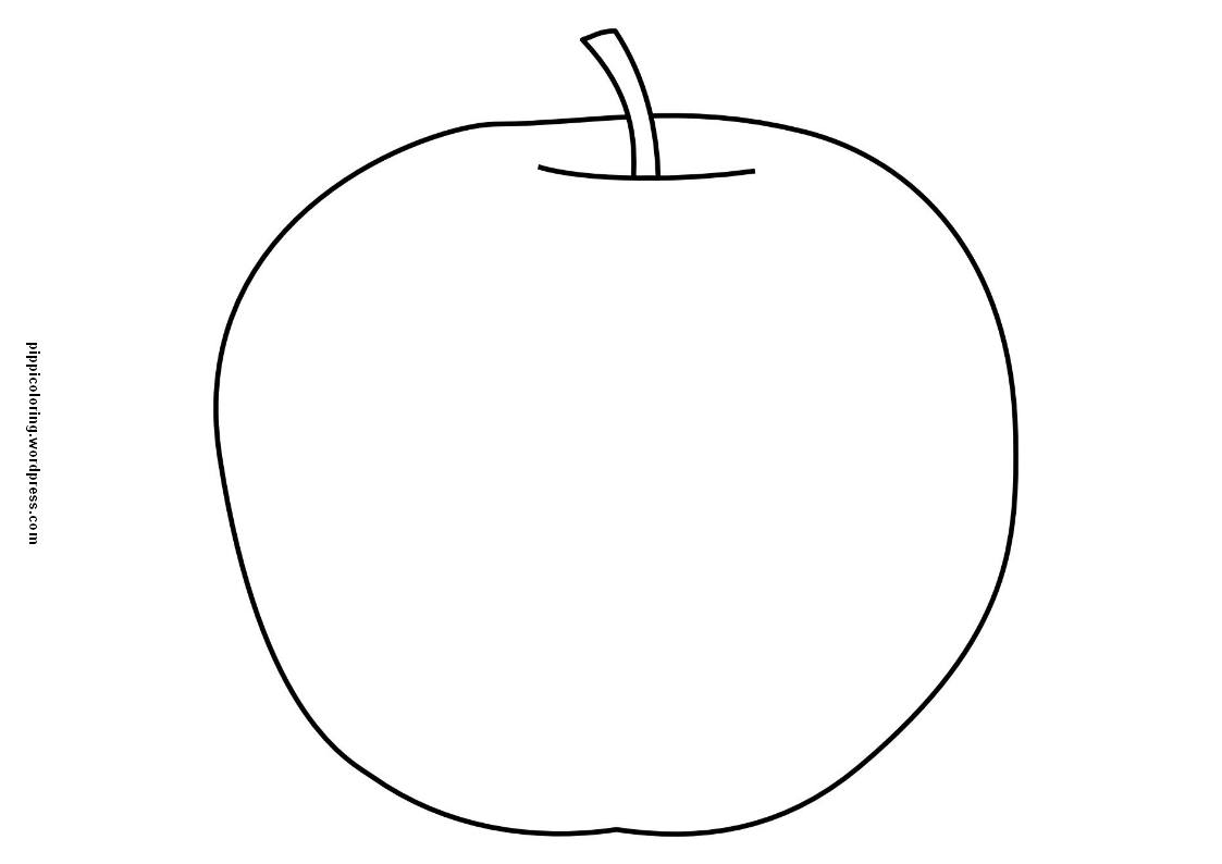 Apple coloring page | Pippi\'s Coloring Pages