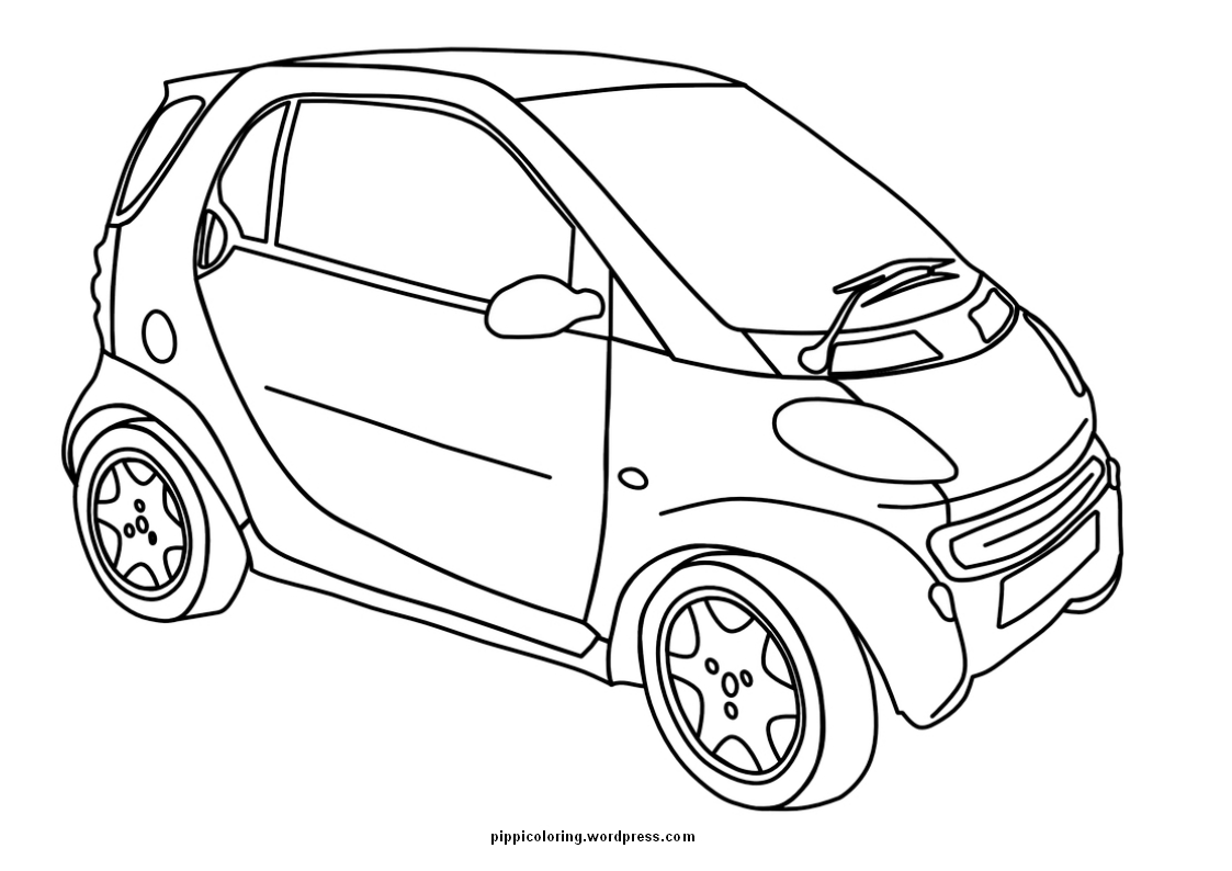 car coloring page | Pippi\'s Coloring Pages