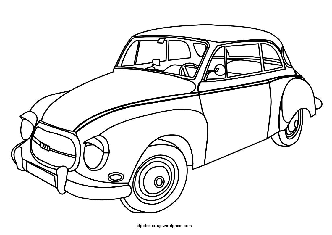 car download | Pippi\'s Coloring Pages