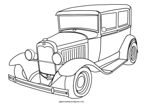 Old  timer coloring page