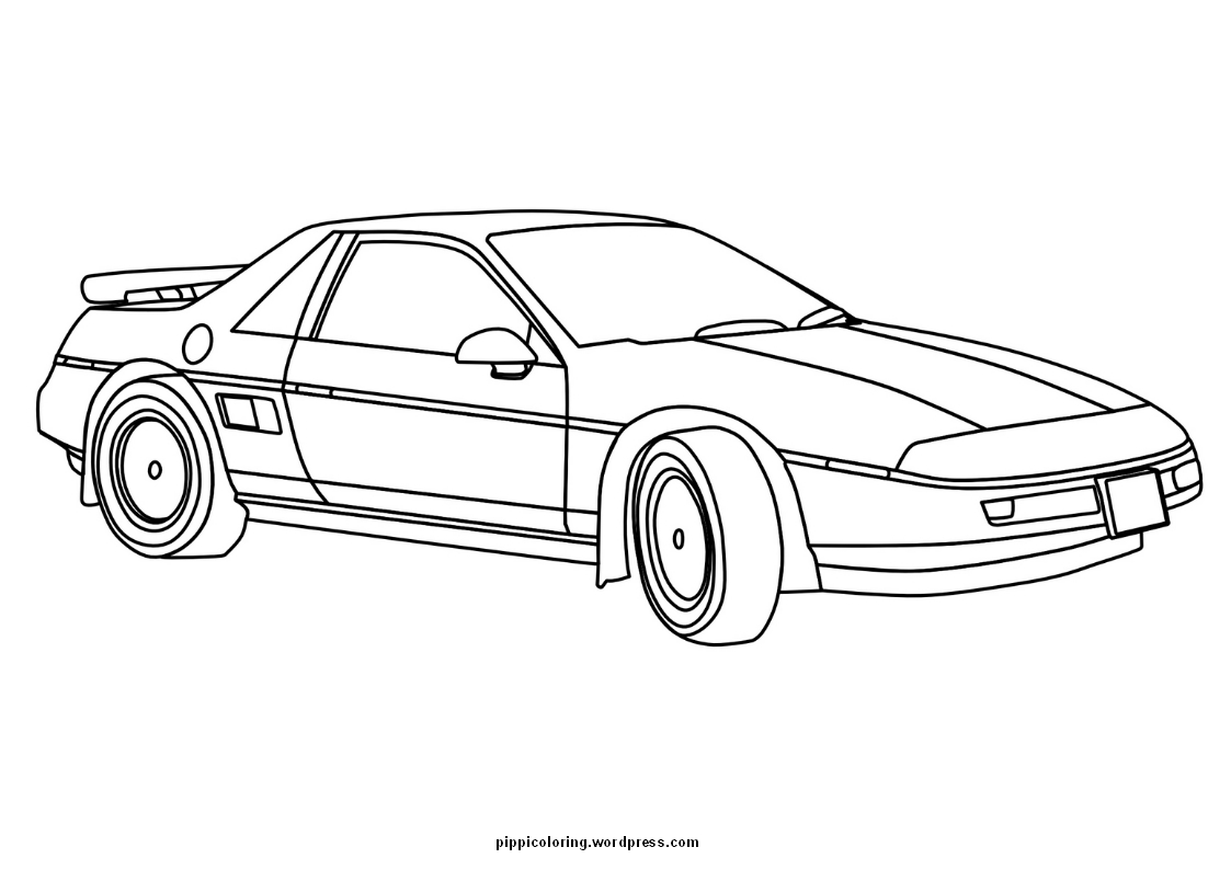 coloring sheet with fast car