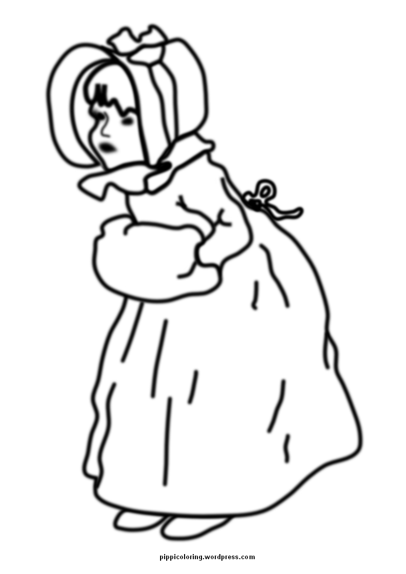 coloring pages of little girl - photo#16